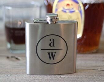 Custom Engraved Groomsmen Whiskey Flask -  12 Designs to Choose From - Groomsmen Gift Box - Gifts for Groomsmen - ANY QUANTITY