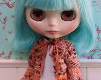 Blythe Cardigan - handknit wool cardigan for Blythe