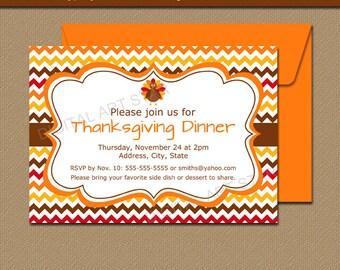 PRINTABLE Thanksgiving Invite - Fall Birthday Invitation - Friendsgiving Invitation - Turkey Invitation - Kids Thanksgiving Birthday T3