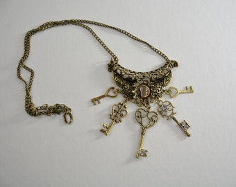 Steampunk Key Necklace