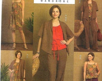 Butterick 5225 Misses Lifestyle Wardrobe Pattern, Jacket, Top, Dress, Shorts And Pants, 2 Hour Pattern, 16-24, UNCUT