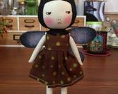 Handmade grumpy butterfly doll
