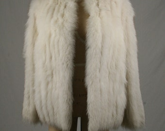 1960s Cream Fox Fur Jacket - Size Large