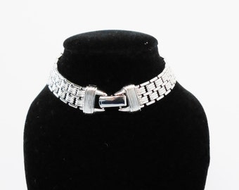 Silver Link Bracelet, Vintage AVON Jewelry, Vintage Designer Signed Chain Bracelet