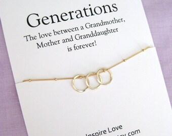 Grandmother Gift. Birthday Gift for Mom. Grandma to be Gift. Mother Necklace. Grandmother Necklace. Baby Shower Gift. Thank you Gift.