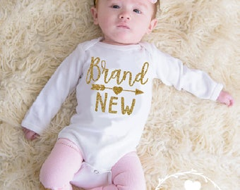 Newborn Girl Coming Home Outfit, Baby Girl Coming Home Outfit, Baby Girl Shower Gift, New Baby Gift, Brand New Baby, Pink and Gold baby