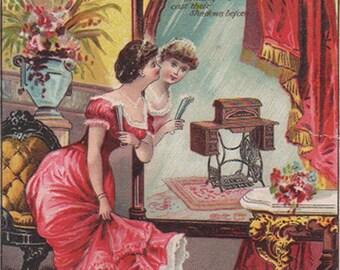 New Home Sewing Machine Co Original Antique Victorian Trade Card