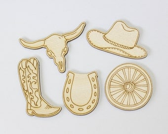 Western Refrigerator Magnets - Cowgirl Gifts - Horse Lover - Gifts for Her - Western Gifts - Engraved Gift - Western Decor - Gifts Under 15