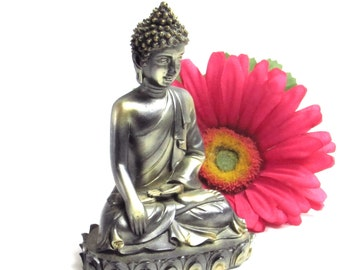 Yoga Zen Alchemy Buddha Diety Peaceful Meditation Spiritual Prayer Figurine - Vintage Home Decor