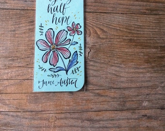 Persuasion bookmark, with handwritten calligraphy - Captain Wentworth's letter - you pierce my soul
