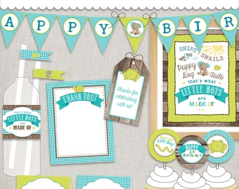 d.i.y. Little Boy 1st Birthday Party Printable PDFs INSTANT DOWNLOAD