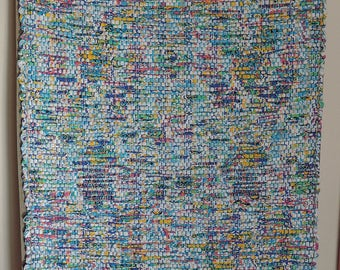 "Hand Woven Rag Rug - Bright Cotton Runner 23"" x 45"""
