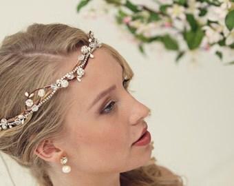 Rustic flower crown, Bridal hair accessories, silver tiara, rustic wedding crown, bridal headpeice, silver headpiece