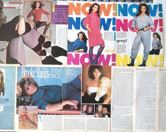 BROOKE SHIELDS ~ The Blue Lagoon, Endless Love, Suddenly Susan, Lipstick Jungle ~ Color Articles from 1981-1984 - Batch 2
