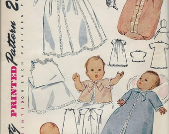 Vintage 1948 Simplicity 2656 Baby's Layette Sewing Pattern One Size  UNCUT