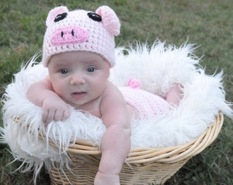 Crochet Photo Prop, Halloween Pig Costume, Pig , Piglet Costume, Baby Pig Costume, Baby Shower Gift, Pig Photo Prop, Piglet Photo Prop