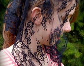 Black Lace Mantilla, PO#Zb01
