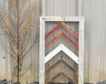SALE!! Reclaimed Wood Wall Art -Barn Wood Home Decor-Chevron Pattern