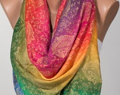 Colorful Mothers Day Pashmina Scarf or Shawl or Neck Wrap. New Season Gift Scarf. On Sale.