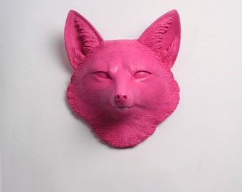 OVERSTOCK SALE - The Sylvester - Pink Faux Fox Head