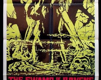 The SWAMP Of The RAVENS original 1974 movie poster horror
