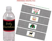 Kentucky Derby Party - Kentucky Derby - Derby Party Decorations - Derby Decorations - Water Bottle Labels - Bottle Labels - Printable