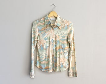 Vintage Pearl Snap Floral Wrangler Country Western Shirt