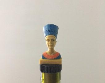 Nefertiti Wine Stopper, Pharoah, Bottle Cork, Ancient Egypt, Wine Gifts, Egyptian Queen, Wine, Egypt Gift, Liquor Decoration, Drinking