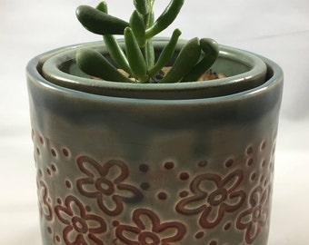 Ceramic Planter, Succulent Planter, Unique Ceramic Planter, Clay Planter, Garden Planter, Flower Planter