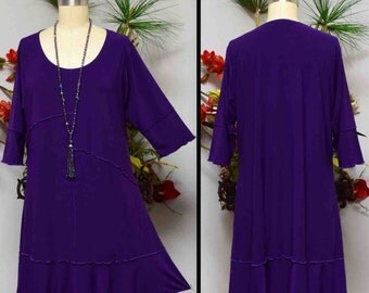 Dare2bstylish Lagenlook Plus size Tunic Dress up to 4XL. Four Colors.