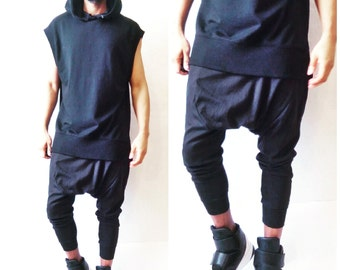 Tailored Drop Crotch Harem  Jogger Pant -Inspired By- Givenchy,YSL,Balmain,Rick Owens,DSquared2