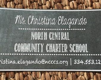 business cards for teachers or substitute teachers teacher cards chalkboard first day of school meet your teacher night back to school