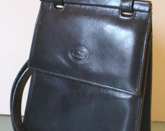 Made in Italy Black L'Artigiano Leather Shoulder Bag