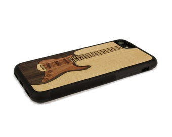 iPhone 7 Case Wood Electric Guitar, Wood iPhone 7 Case, iPhone 7 Wood Case