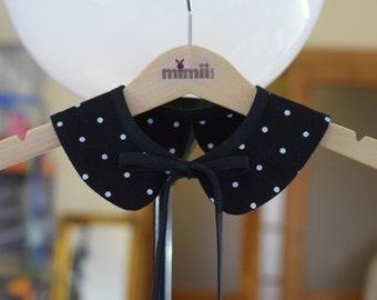 Peter Pan collar Detachable peter pan collar Baby Toddler Girls Peter Pan collar Black white dot Family photo Gift for girls