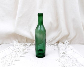 Small Antique French Blown Glass Half Wine Bottle, Fillette, Demi, Farmhouse, Country Decor, Kitchen, Collectible, Man Cave, Vase,