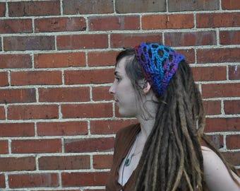 Organic Wool Block Headband // 100% Wool Openwork Dreadlock Hairband