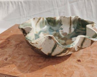 Wavy Splatter Studio Pottery Bowl