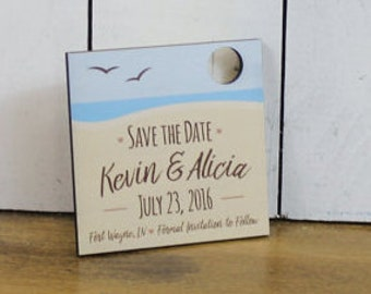 Save the Date Magnet/50/Engraved Ornament/Wedding/Favor/Wedding Ornament/Tag/Personalized/Wood/Napkin/Shower Favors/Wood Magnet