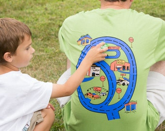Play Car Shirt for Dad Drive on Race Track Road Map Shirt Father's Day Gift from Son