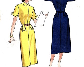 Butterick 5843 Misses' Vintage 1950s Basic and Simple Dress Sewing Pattern