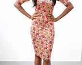 AFRICAN PRINT bodycon dress stretch ankara