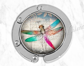DRAGONFLY Purse Hook, Dragon Fly Insect Purse Hanger, Purse Holder, Bag Hook, Purse Accessory, Handbag Hanger, Diaper Tote Bag Hanger