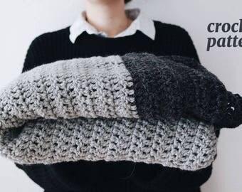 Minimal Crochet Blanket, Cozy Blanket, Minimalist Home