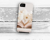 Whimsical iPhone 7 Case - iPhone 6s Plus Cover - Book Pages SE iPhone case - Heart iPhone 5s Case - White Rose iPhone 6 Case - iPhone 6 Case