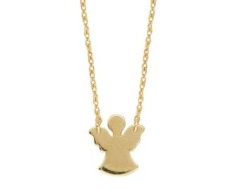 14k Gold Angel Necklace/Love/Bridal/Trendy/Heart