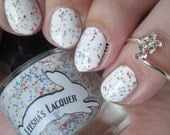 Fruity O's Cereal - Foodie's Paradise Collection - Full Size or Mini Rainbow White Crelly Nail Polish