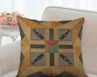 Rustic Country Board Game Pillow