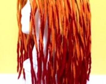 wet felted dreadlock dread hat wig