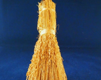 Signed Artisan Crafted Besom - Twisted Handle  | Altar Broom | Decorative Broom | Witches Broom | Besom | Circle Casting | Energy Clearing